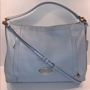 Coach Blue Leather Scout Tote Crossbody 34312